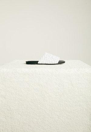 Vegan Slit Slide in White by Simon Miller - 3