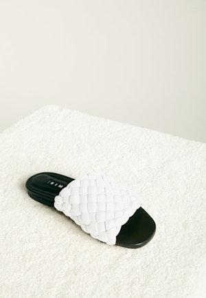 Vegan Slit Slide in White by Simon Miller - 2