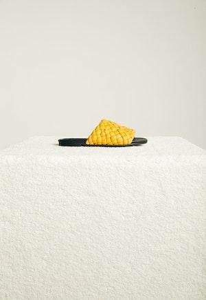 Vegan Slit Slide in Yolk Yellow by Simon Miller - 3