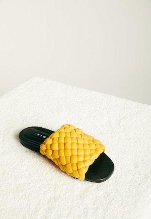 Vegan Slit Slide in Yolk Yellow by Simon Miller - 2