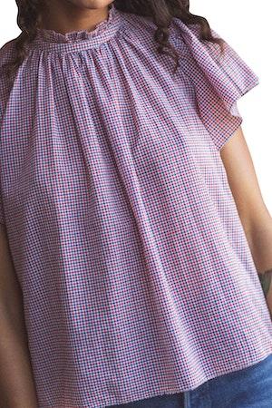 Carla Highneck Shirt RD/WHT/NVY MINI CK by Trovata - 1