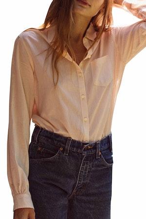 Grace Classic Shirt BLUSH by Trovata - 1