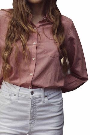 Grace Classic Shirt MAUVE by Trovata - 1