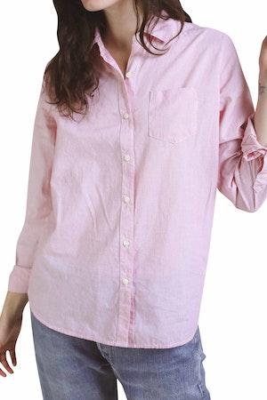 Grace Classic Shirt RED MICRO STRIPE by Trovata - 1
