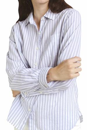 Grace Classic Shirt WHITE/BLUE STRIPE by Trovata - 1