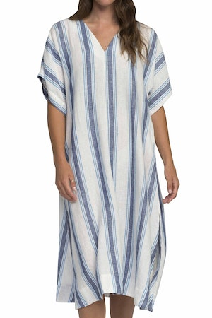 Hannah dress BLUE WIDE STRIPE by Trovata - 1