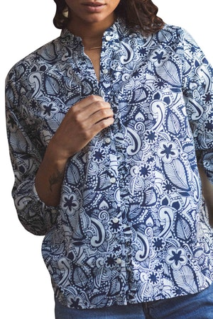 Helena Shirt NAVY PRINT by Trovata - 1