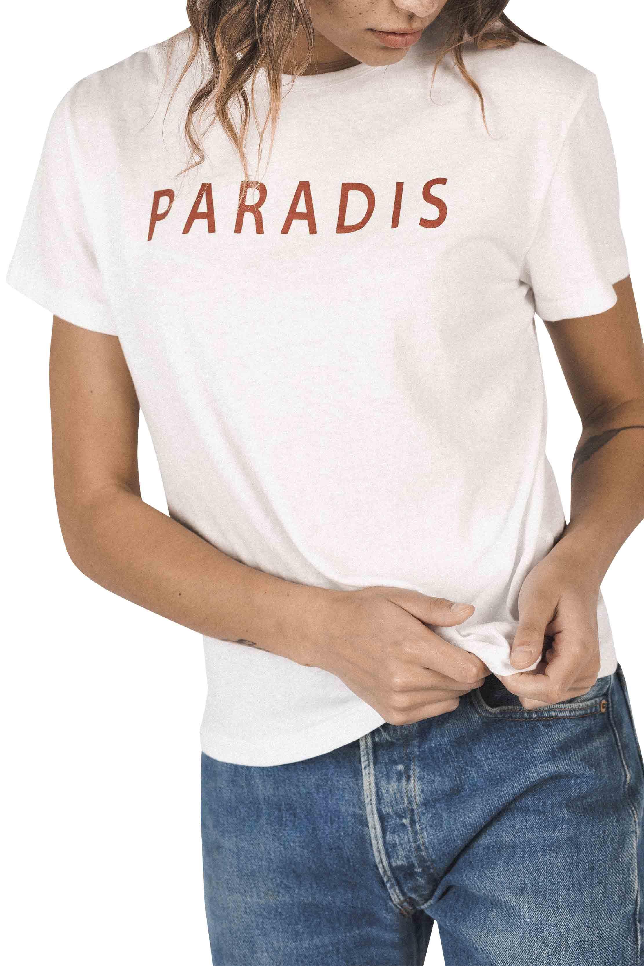 Jett T-Shirt RED WHITE PARADIS by Trovata - 1