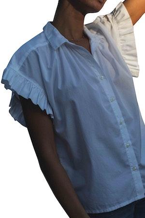 Marianne B Ruffle Sleeve Shirt WHITE by Trovata - 1