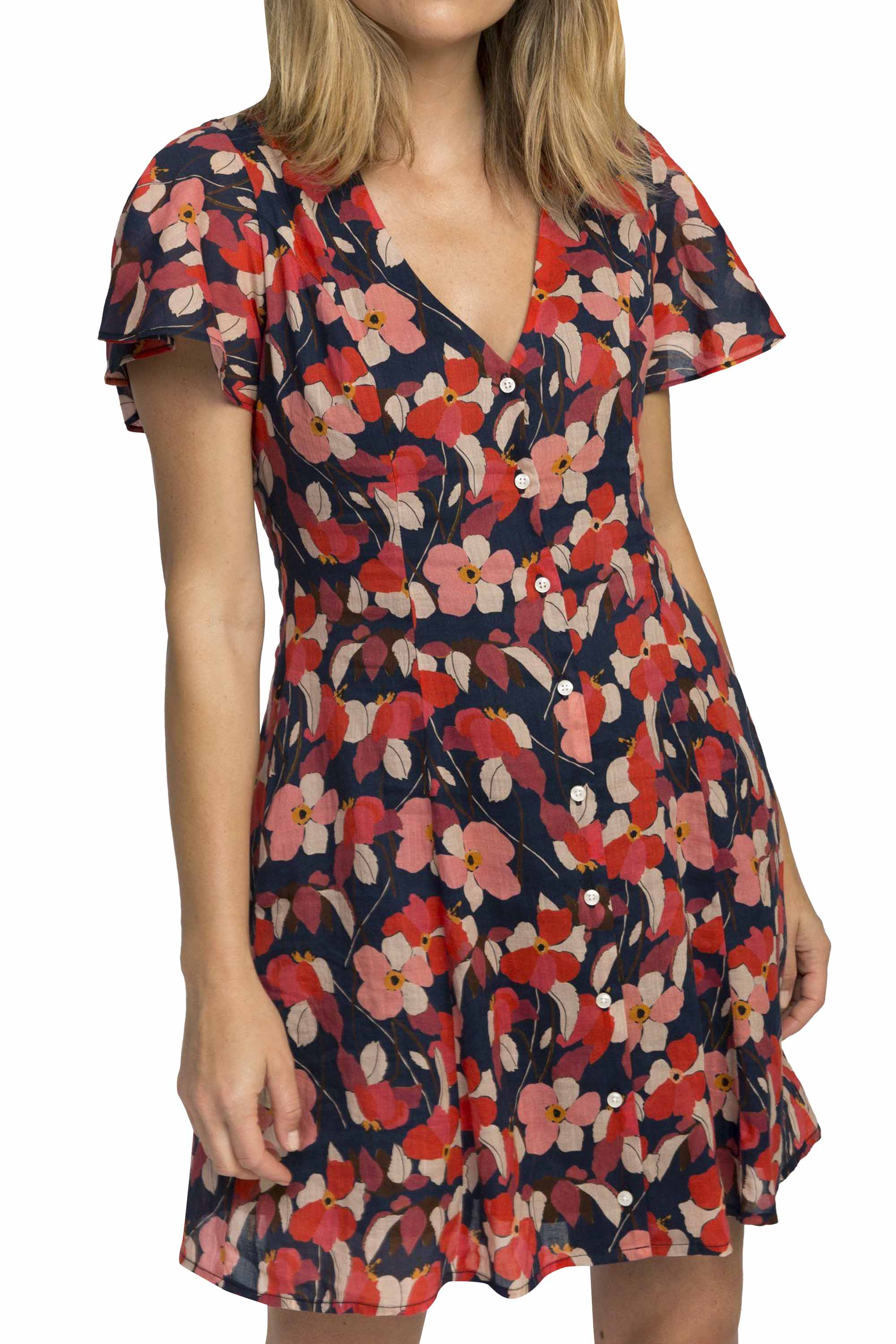 Sistine dress NAVY FLORAL by Trovata - 1