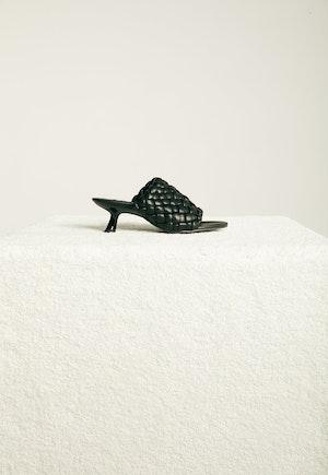 Vegan Woven Tee Heel in Black by Simon Miller - 1