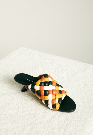 Vegan Woven Tee Heel in Multi Color by Simon Miller - 4