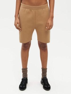 Essential Knit Shorts Brown by Vaara - 1