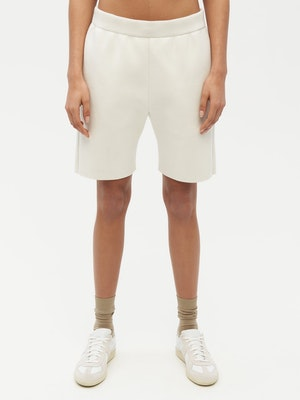 Essential Knit Shorts White by Vaara - 1