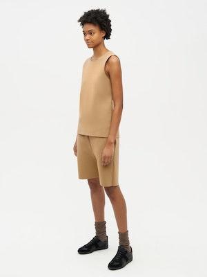 Essential Knit Shorts Brown by Vaara - 2