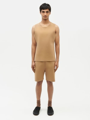 Essential Knit Shorts Brown by Vaara - 4