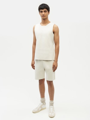 Essential Knit Shorts White by Vaara - 4