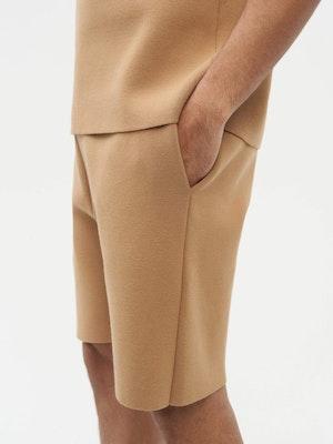 Essential Knit Shorts Brown by Vaara - 5