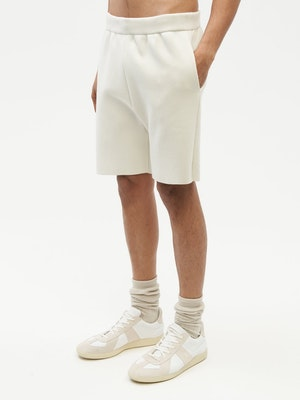 Essential Knit Shorts White by Vaara - 5