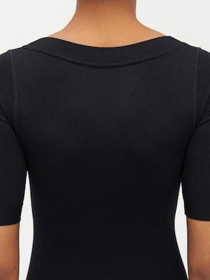Technical Knit Short Sleeve Bodysuit Black by Vaara - 5