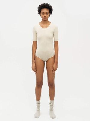 Technical Knit Short Sleeve Bodysuit Neutral by Vaara - 1