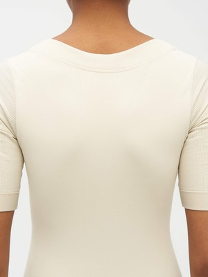 Technical Knit Short Sleeve Bodysuit Neutral by Vaara - 4