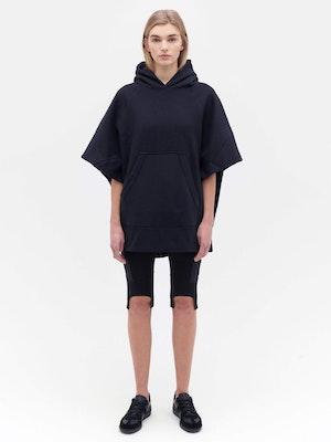 Sweatshirt Poncho Black by Vaara - 1