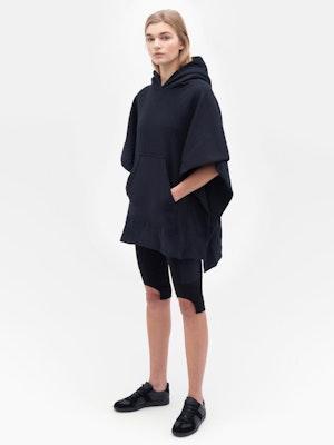 Sweatshirt Poncho Black by Vaara - 2