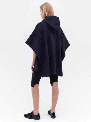 Sweatshirt Poncho Black by Vaara - 3