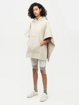 Sweatshirt Poncho Grey by Vaara - 1