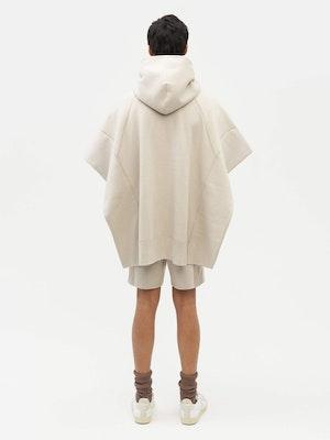 Sweatshirt Poncho Grey by Vaara - 5