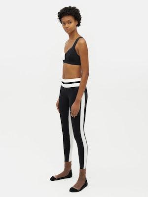 Tuxedo Sports Legging Black by Vaara - 3