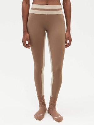 Tuxedo Sports Legging Brown by Vaara - 2