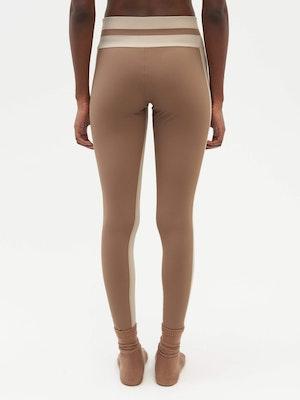 Tuxedo Sports Legging Brown by Vaara - 5