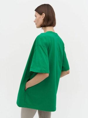 Unisex Heavy Pocket T-Shirt Green by Vaara - 2