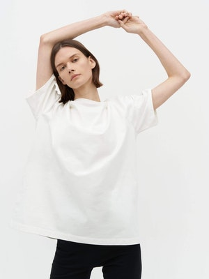 Unisex Heavy Pocket T-Shirt White by Vaara - 2