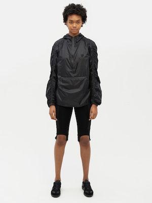 Unisex Ruched Short Anorak Black by Vaara - 2