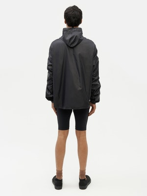Unisex Ruched Short Anorak Black by Vaara - 5