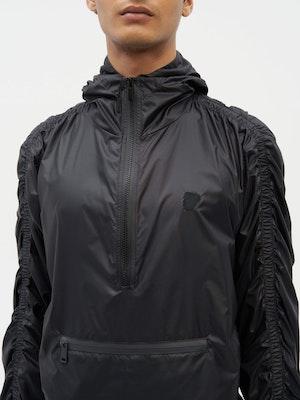 Unisex Ruched Short Anorak Black by Vaara - 6