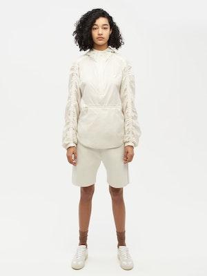 Unisex Ruched Short Anorak White by Vaara - 1