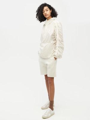 Unisex Ruched Short Anorak White by Vaara - 2