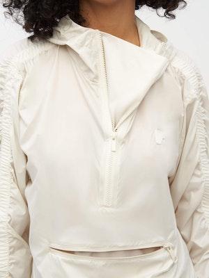Unisex Ruched Short Anorak White by Vaara - 4