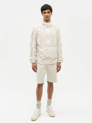 Unisex Ruched Short Anorak White by Vaara - 5