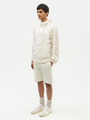 Unisex Ruched Short Anorak White by Vaara - 6