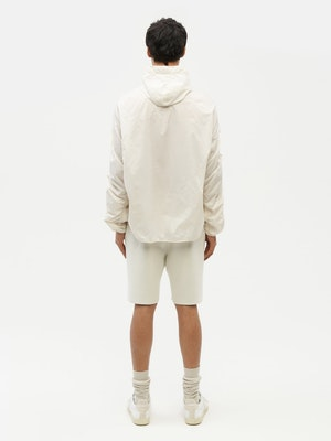 Unisex Ruched Short Anorak White by Vaara - 7
