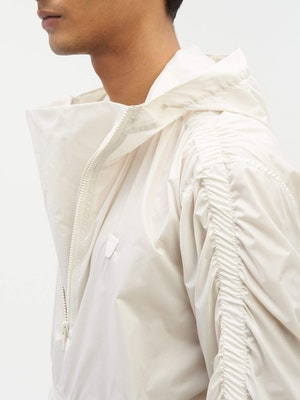 Unisex Ruched Short Anorak White by Vaara - 8