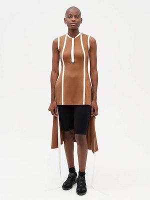 Wrap Dress Brown by Vaara - 1