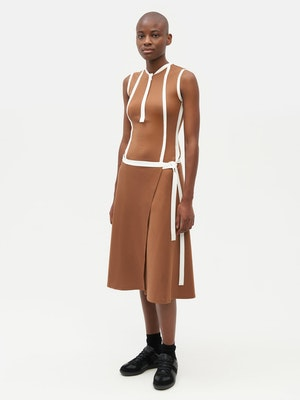 Wrap Dress Brown by Vaara - 2