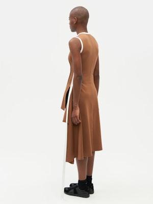 Wrap Dress Brown by Vaara - 4