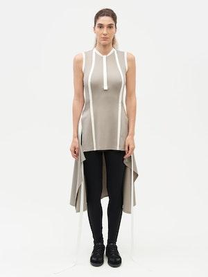 Wrap Dress Grey by Vaara - 2